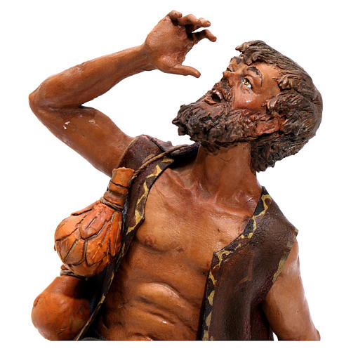 Pastore meravigliato presepe 18 cm Angela Tripi 2