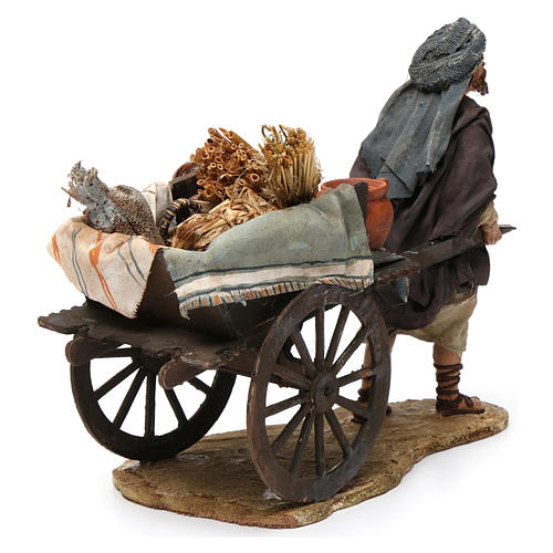 Paesant with cart for Nativity by Angela Tripi 13 cm 3