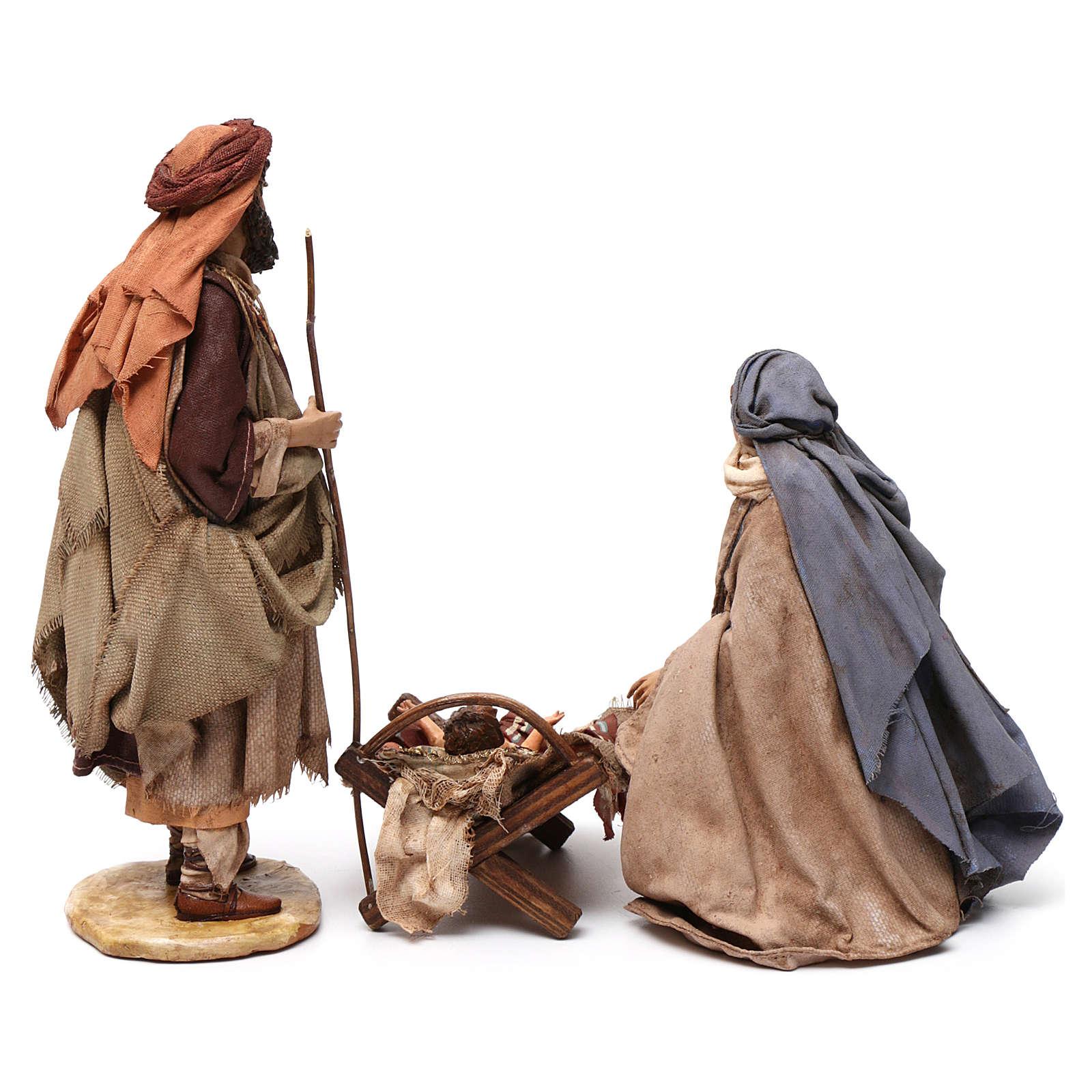 Nativité 3 santons Angela Tripi 18 cm 4