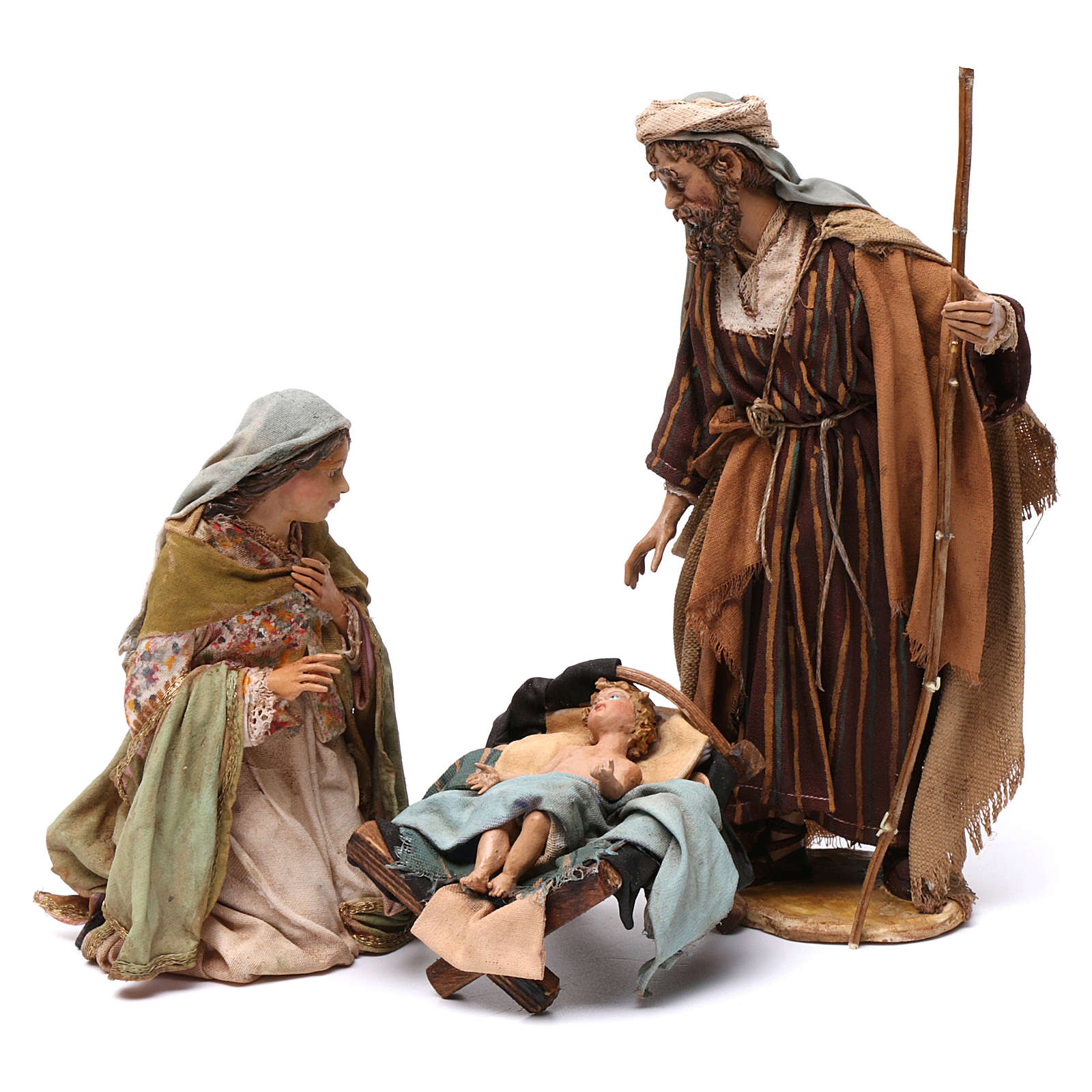 Natividad de terracota 3 piezas Angela Tripi 18 cm de altura media 4