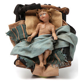 Natividad de terracota 3 piezas Angela Tripi 18 cm de altura media s4