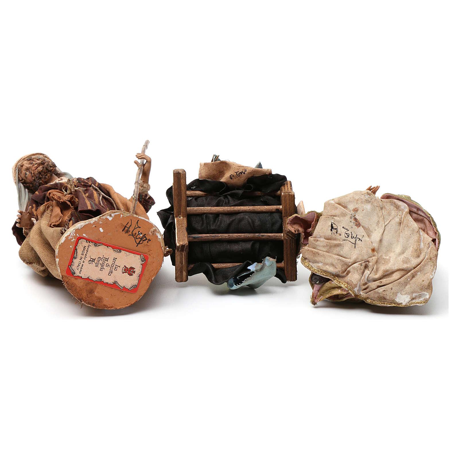 Natività in terracotta 3 pezzi Angela Tripi 18 cm 4