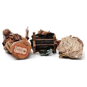 Natività in terracotta 3 pezzi Angela Tripi 18 cm s6