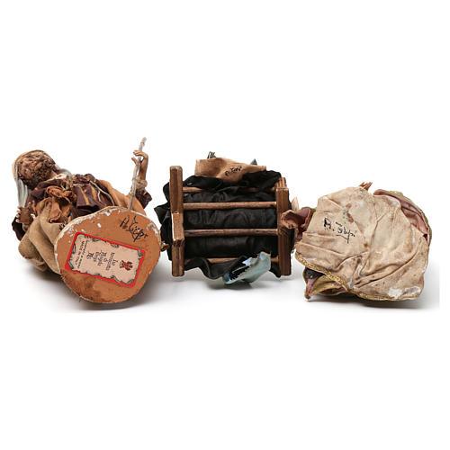Natività in terracotta 3 pezzi Angela Tripi 18 cm 6