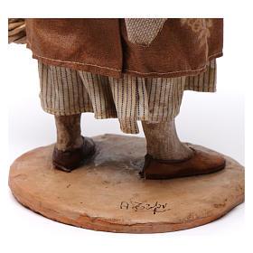 Pastorella con cesti vuoti Presepe Angela Tripi 30 cm s6