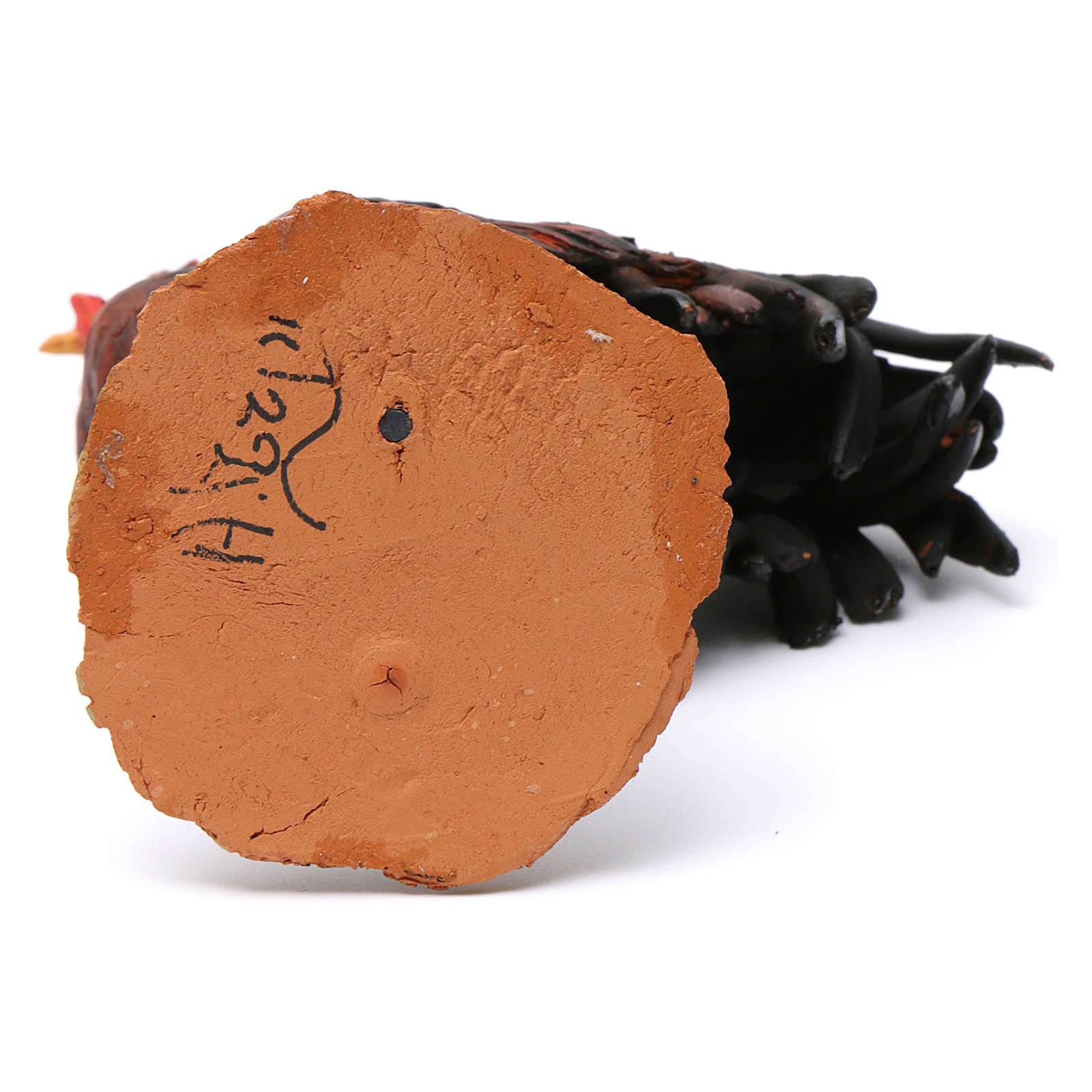 Gallo terracotta per presepe 30 cm Tripi 4