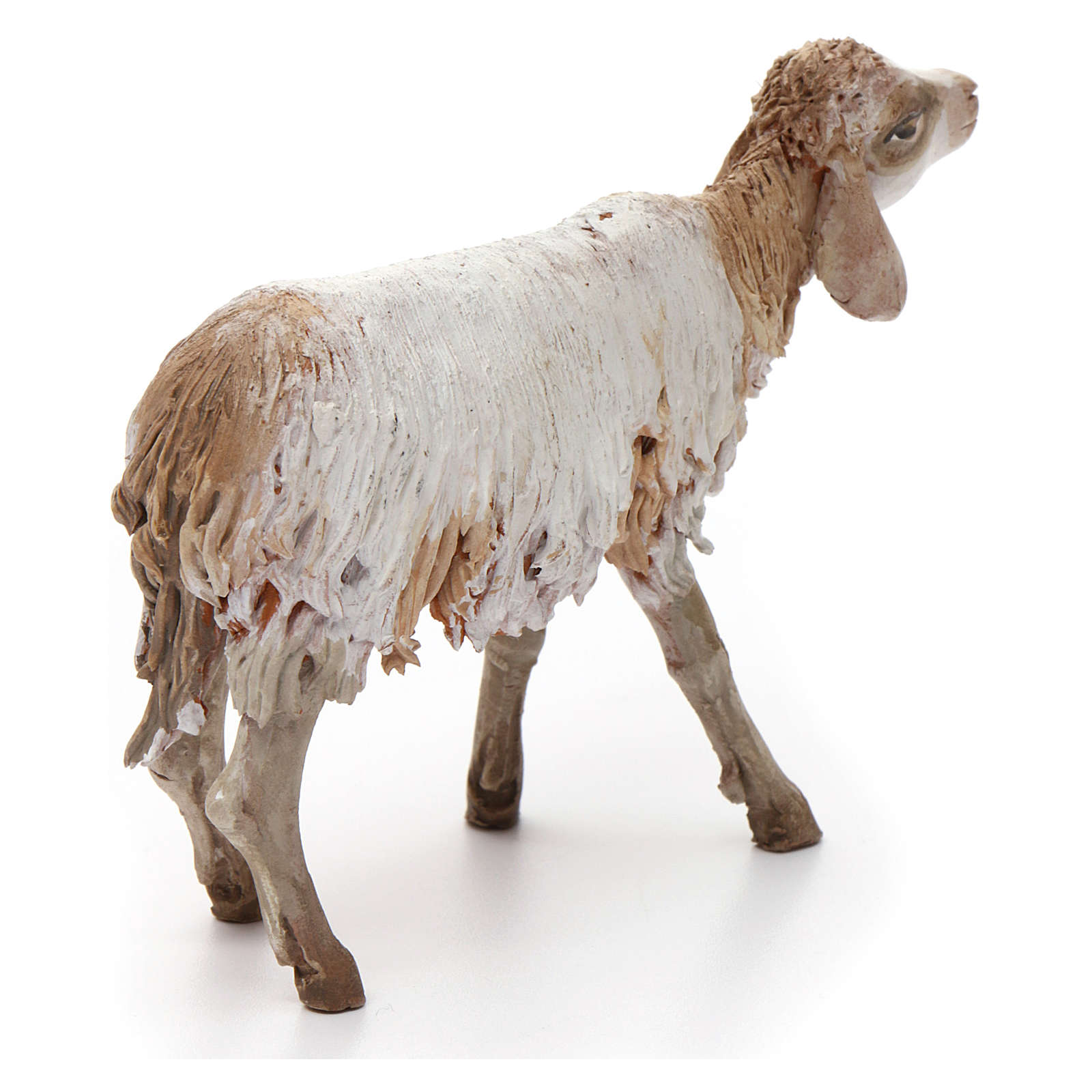 Mouton terre cuite pour crèche 18 cm Angela Tripi 4