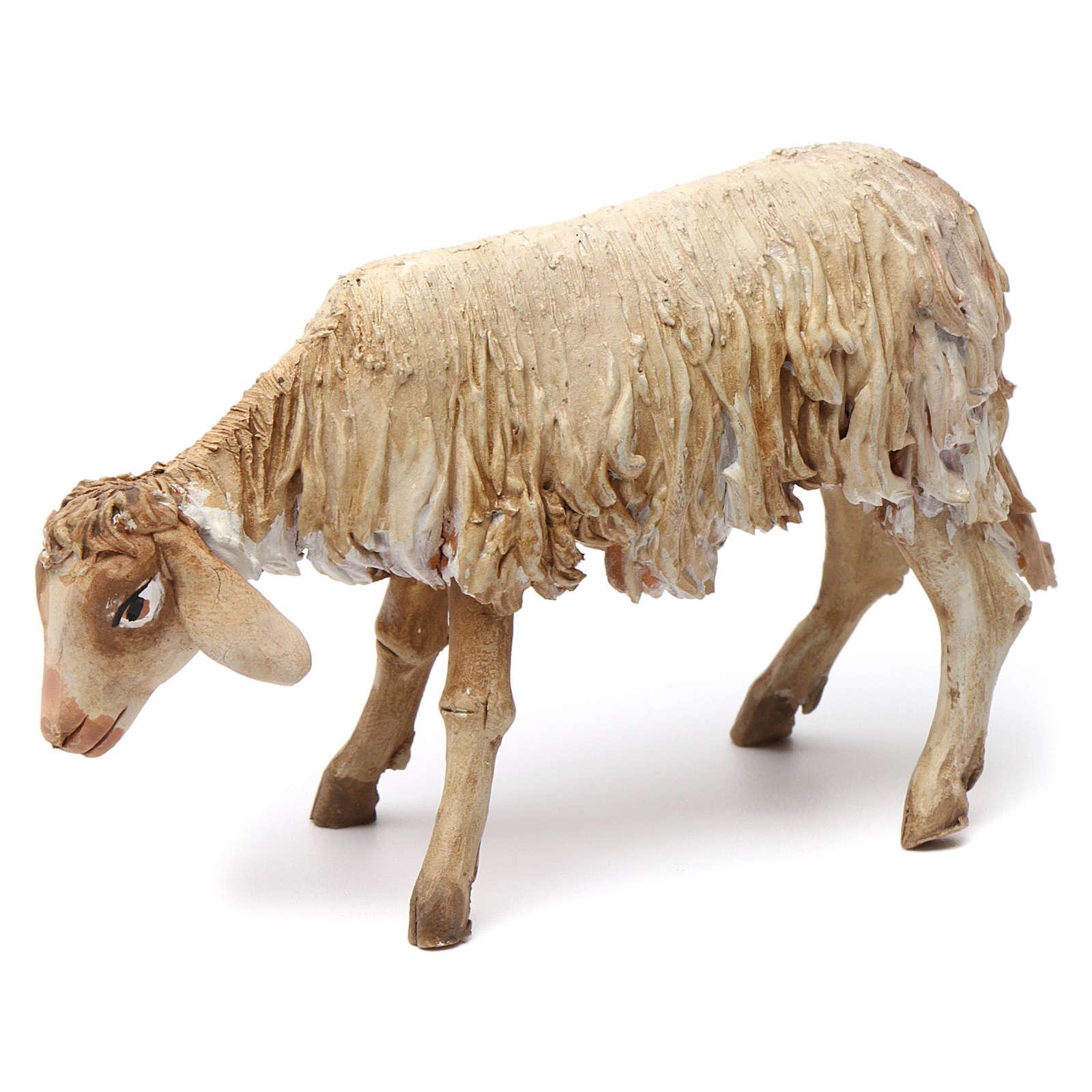 Lying sheep figurine for Nativity Angela Tripi 18 cm 4