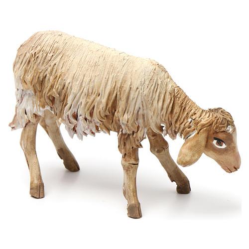 Lying sheep figurine for Nativity Angela Tripi 18 cm 2