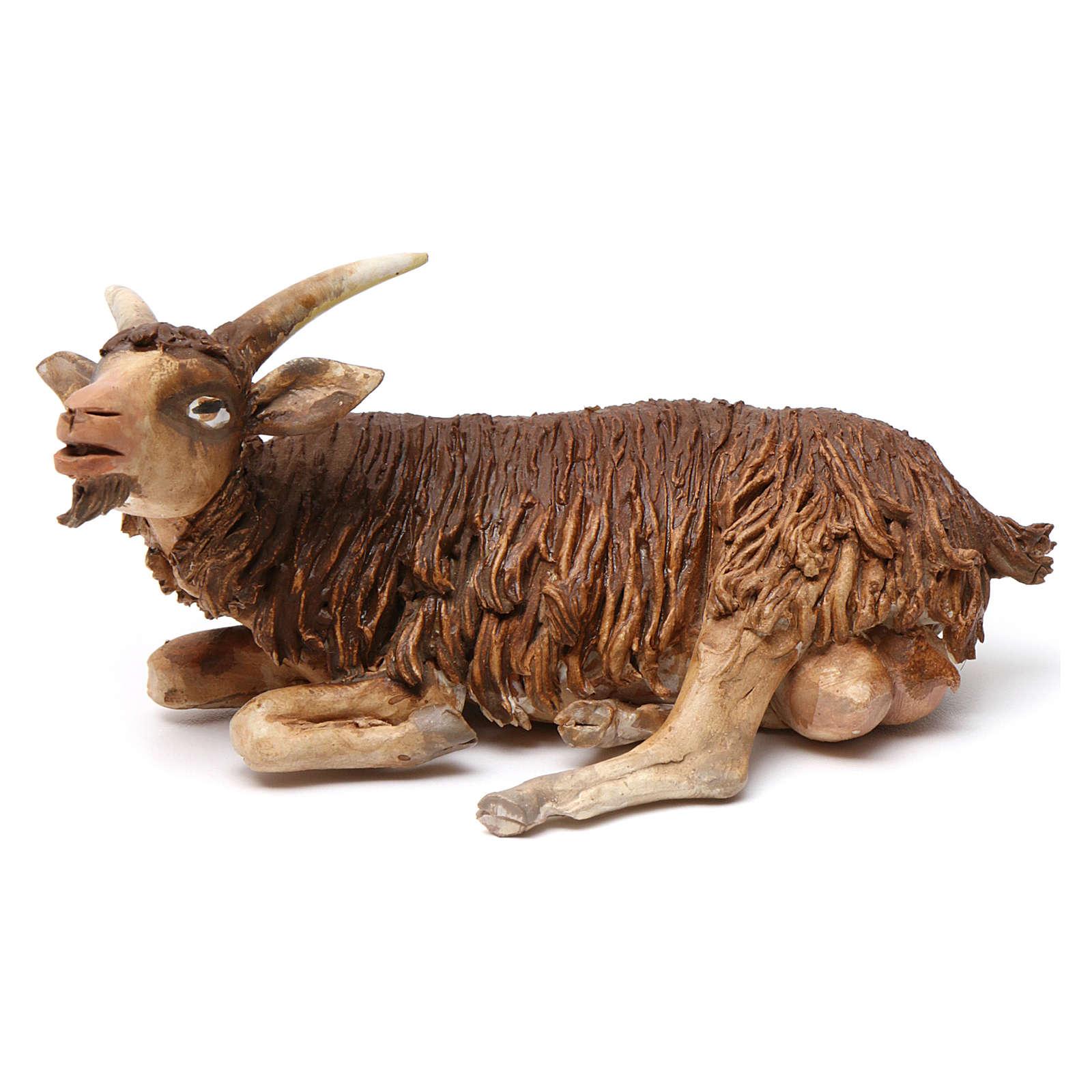 Goat in terracotta 18 cm for Angela Tripi Nativity Scene 4