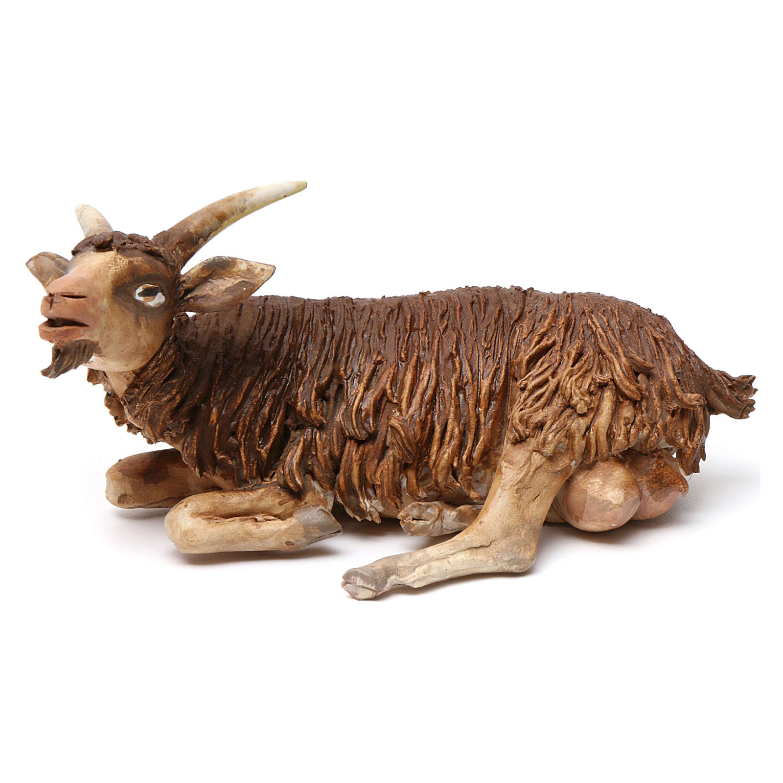 Chèvre allongée pour crèche 18 cm Angela Tripi 4