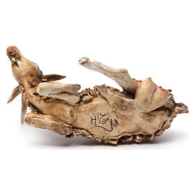 Chèvre allongée pour crèche 18 cm Angela Tripi s4
