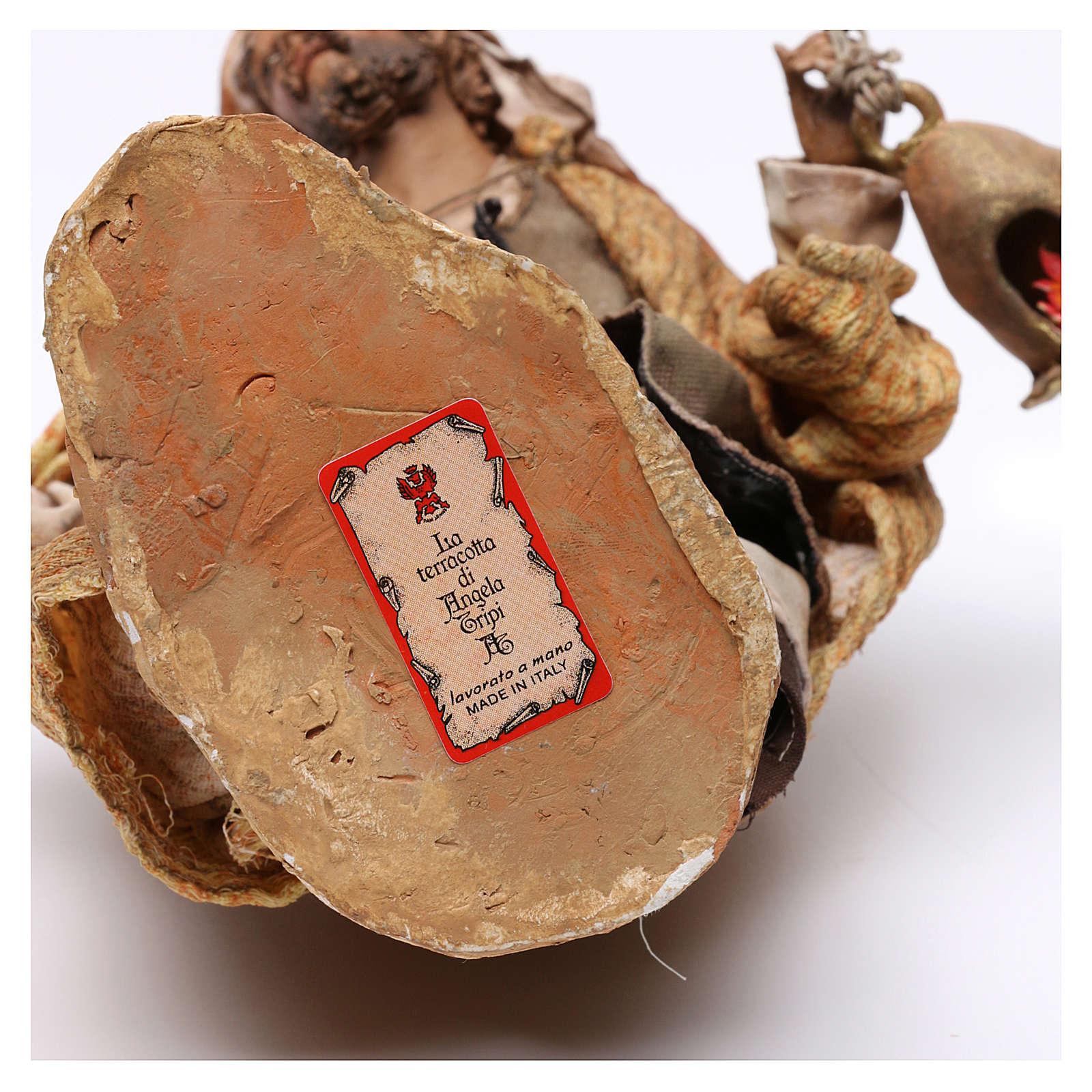 Natività 3 pezzi S. Giuseppe con lanterna 30 cm Tripi 4