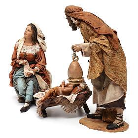 Natività 3 pezzi S. Giuseppe con lanterna 30 cm Tripi s3