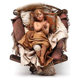 Natività 3 pezzi S. Giuseppe con lanterna 30 cm Tripi s6
