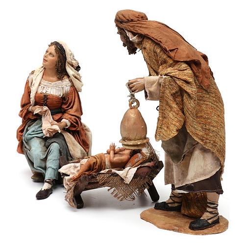 Natività 3 pezzi S. Giuseppe con lanterna 30 cm Tripi 3