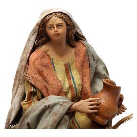 Nativity Scene figurine Woman selling vases, Angela Tripi 18 cm s2