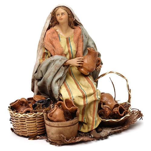 Nativity Scene figurine Woman selling vases, Angela Tripi 18 cm 1