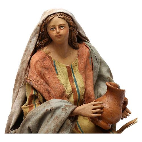 Nativity Scene figurine Woman selling vases, Angela Tripi 18 cm 2
