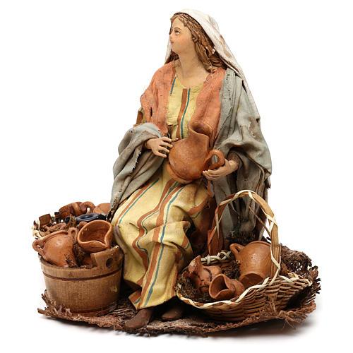 Nativity Scene figurine Woman selling vases, Angela Tripi 18 cm 3
