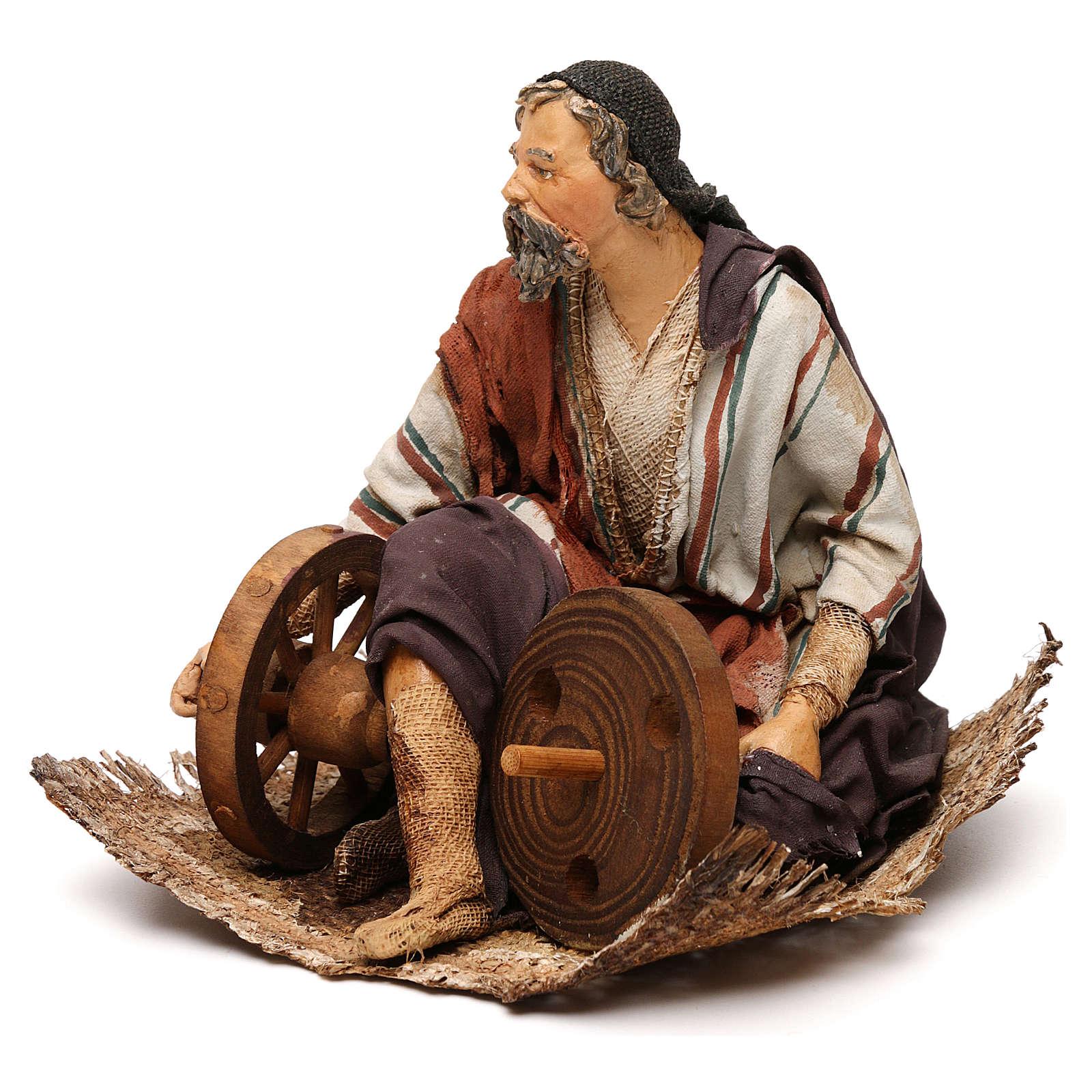 Pastore seduto con ruote 18 cm Angela Tripi 4