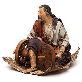 Pastore seduto con ruote 18 cm Angela Tripi s3