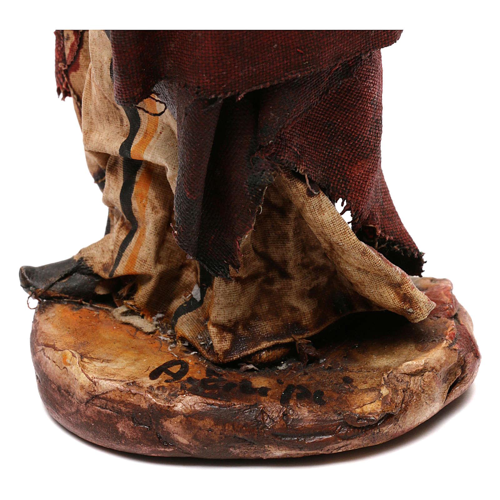 Pastore con legna 18 cm presepe Angela Tripi 4