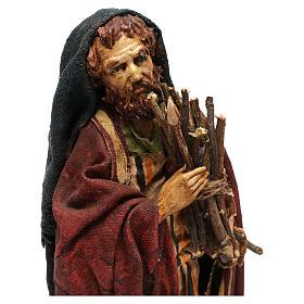 Pastore con legna 18 cm presepe Angela Tripi s2