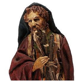 Pastore con legna 18 cm presepe Angela Tripi s8