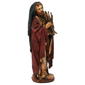 Pastore con legna 18 cm presepe Angela Tripi s10