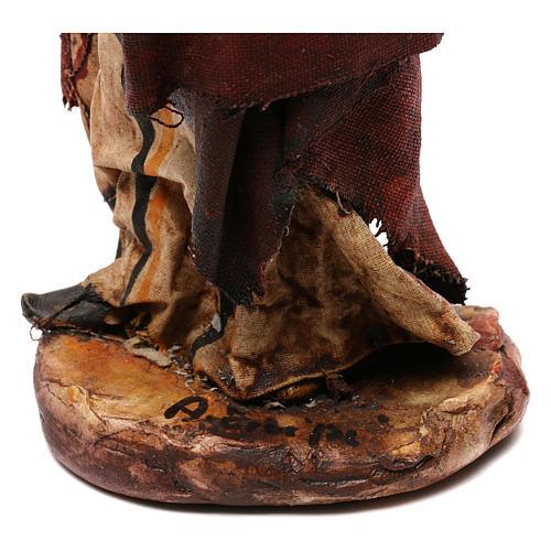 Pastore con legna 18 cm presepe Angela Tripi 6