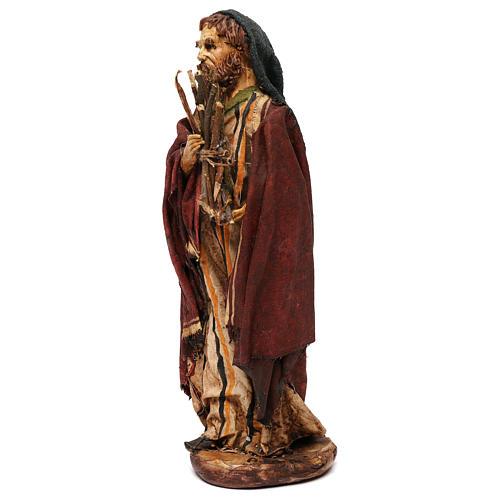 Pastore con legna 18 cm presepe Angela Tripi 9