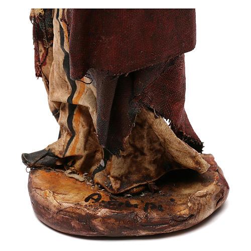 Pastore con legna 18 cm presepe Angela Tripi 12