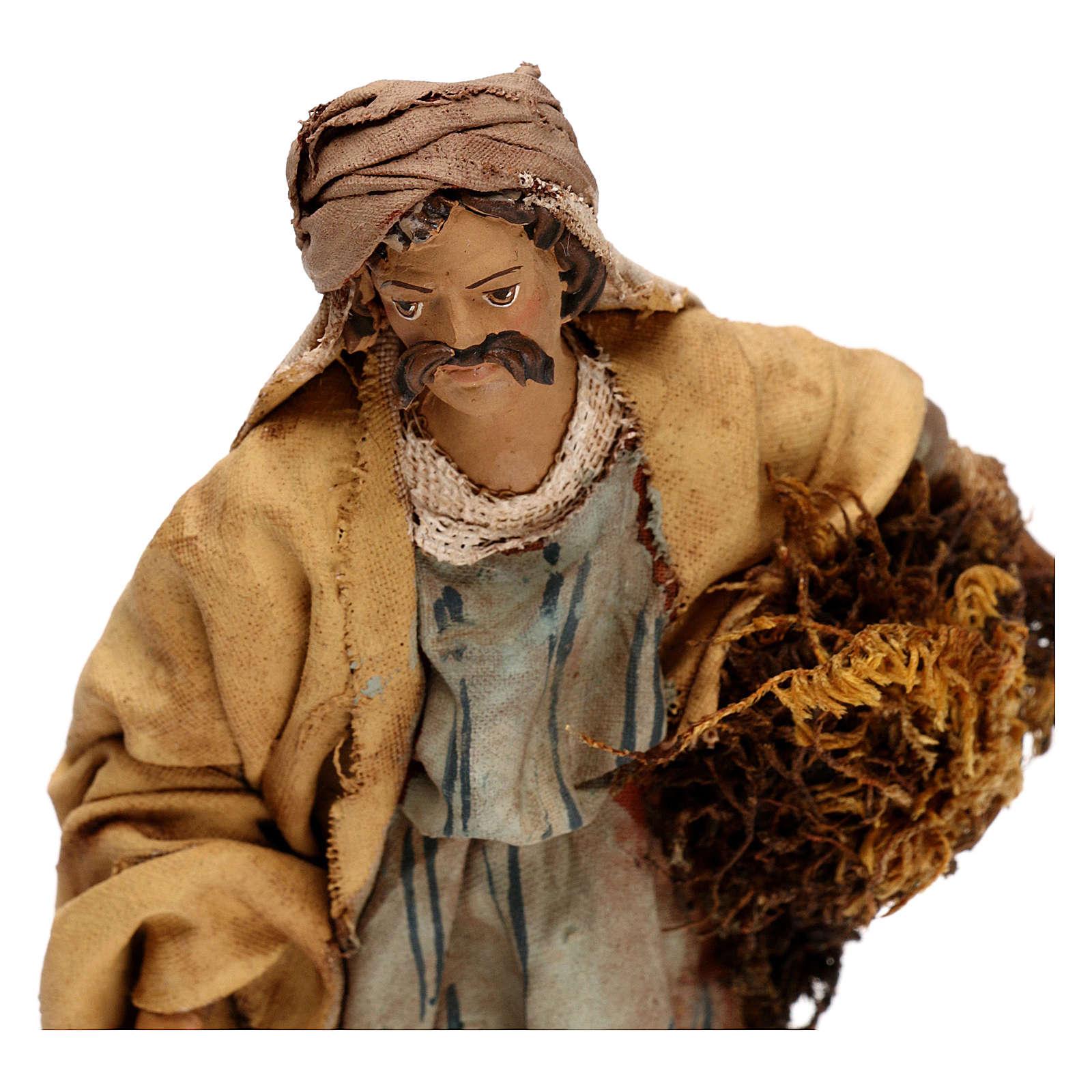 Agriculteur avec foin 13 cm crèche Tripi 4
