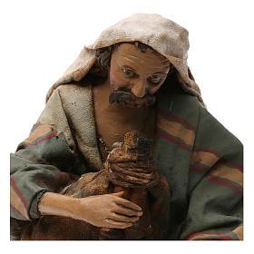Old bagpiper, 18 cm nativity Angela Tripi s2