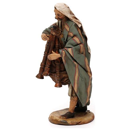 Old bagpiper, 18 cm nativity Angela Tripi 3