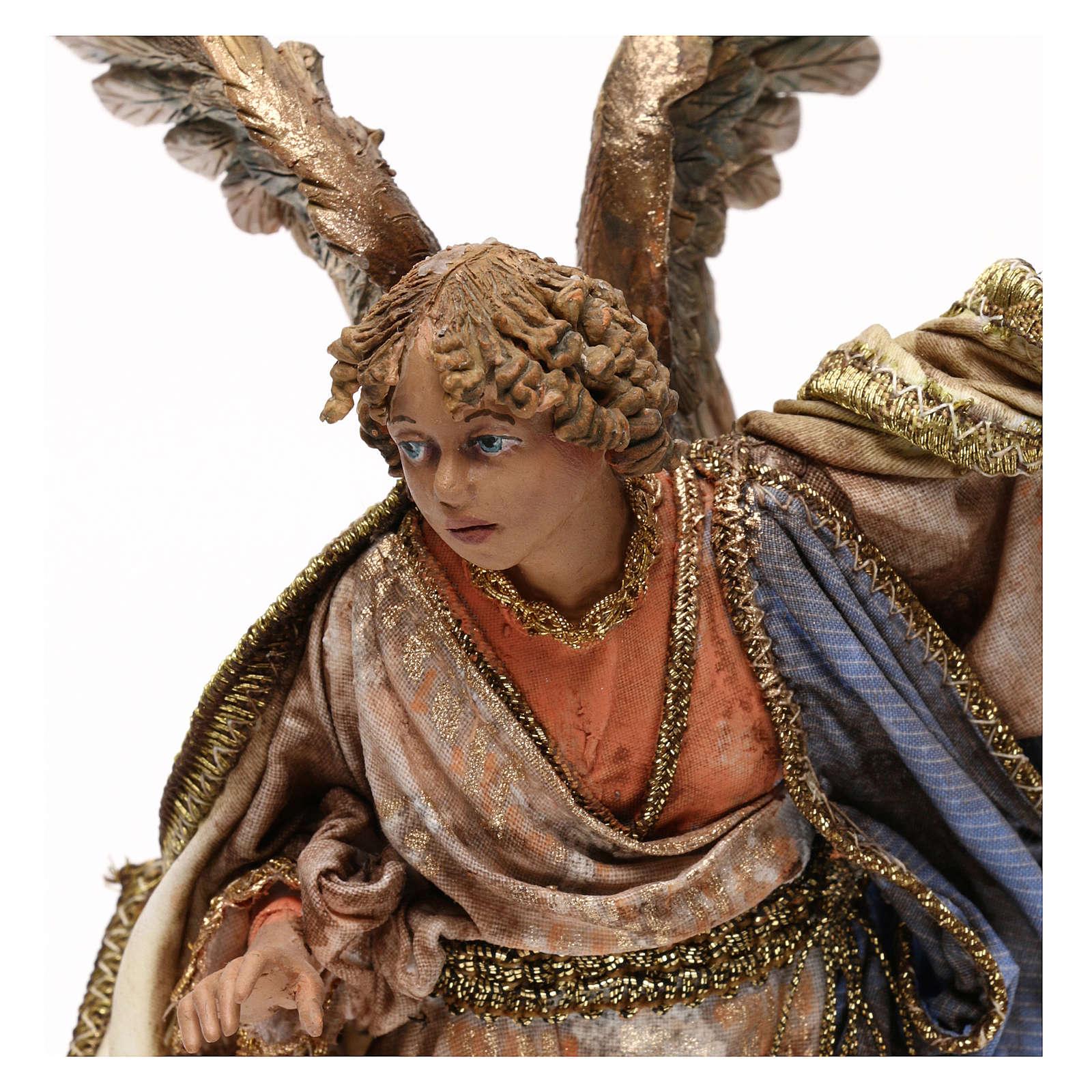 Angel messenger for 18 cm Nativity scene, Angela Tripi 4
