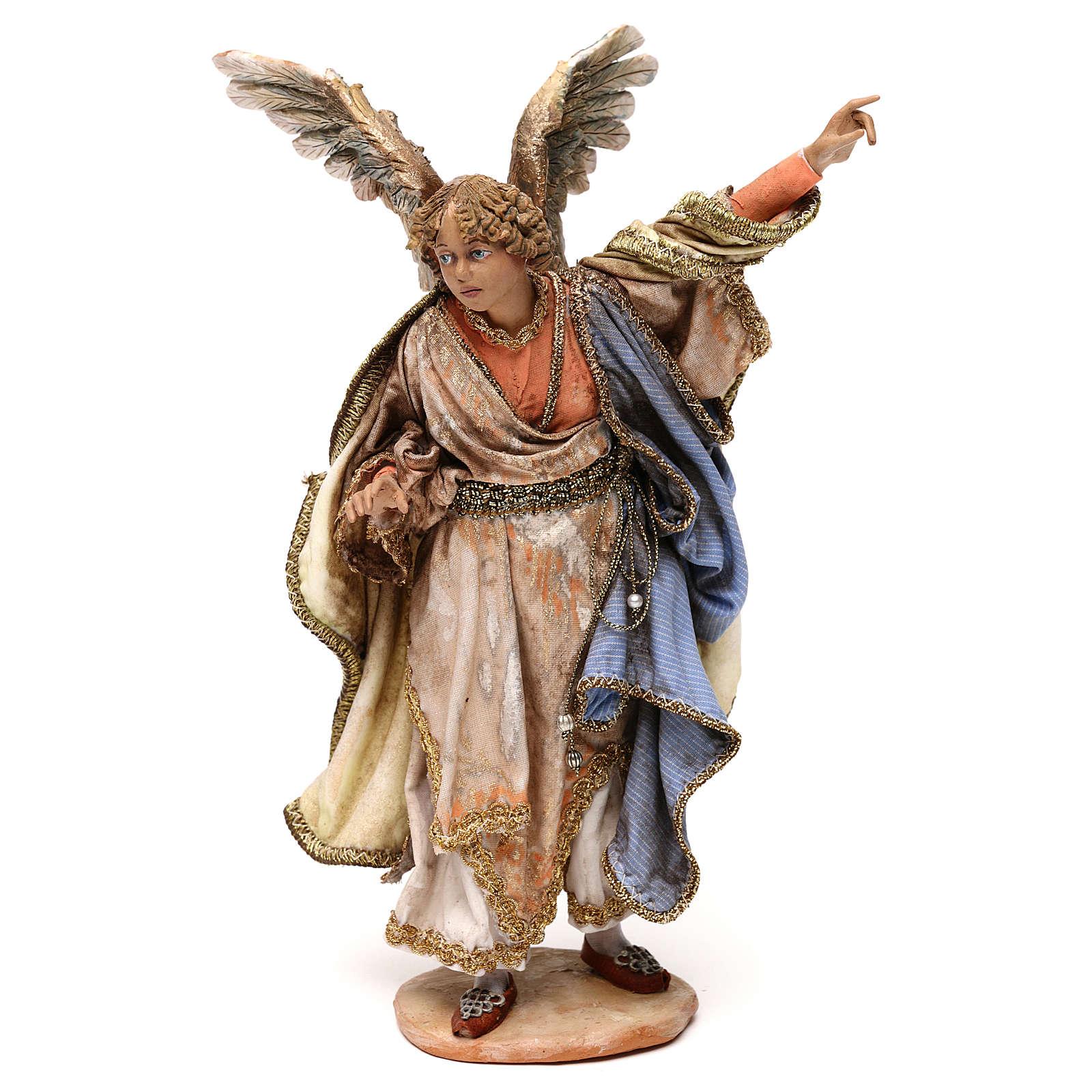 Ange annonce aux bergers crèche Angela Tripi 18 cm 4