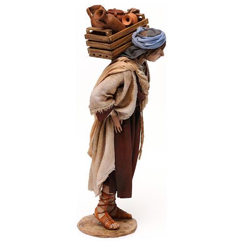 Venditore anfore in spalla 30 cm presepe Tripi 4