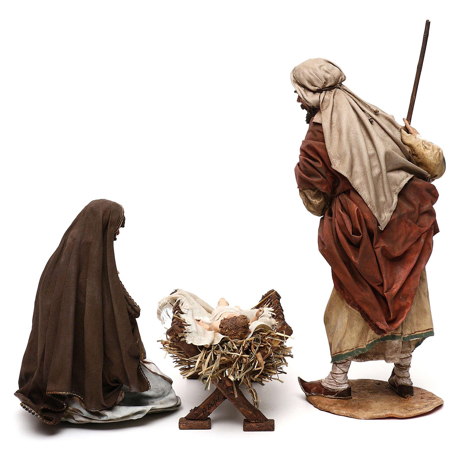 Natività 3 pezzi presepe 30 cm atelier Tripi 4