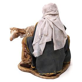 Pastore che munge terracotta 13 cm Angela Tripi s4
