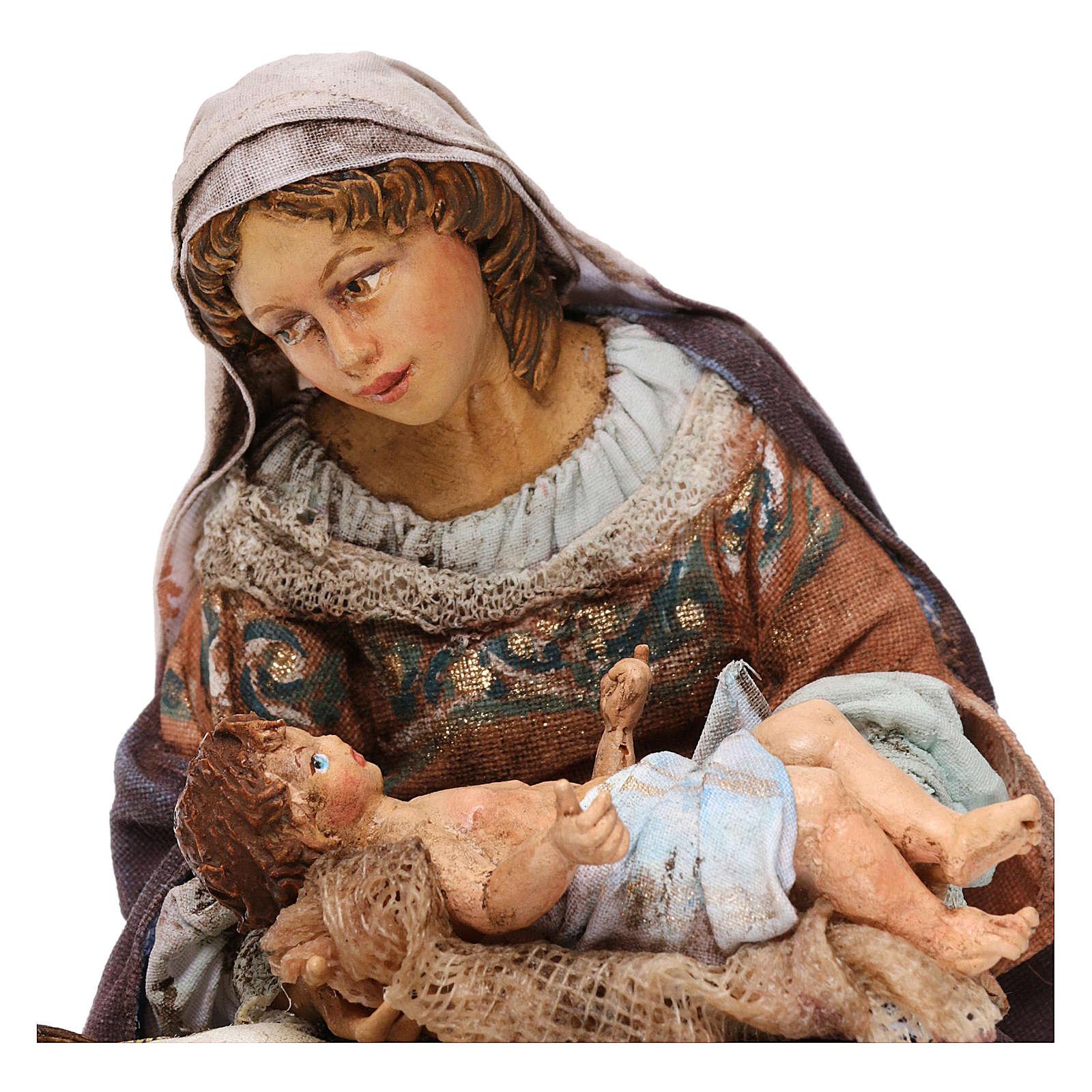 Natività Maria seduta 18 cm Tripi 4