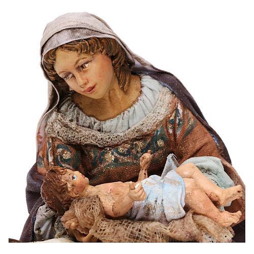 Natività Maria seduta 18 cm Tripi 3