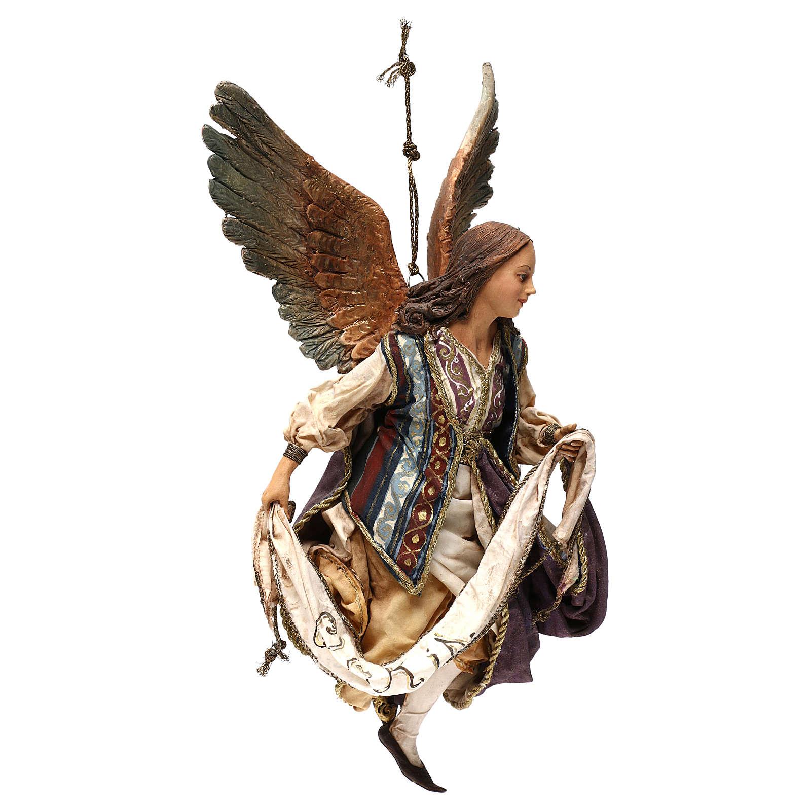 Angelo Gloria in volo 30 cm presepe Tripi 4