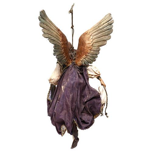 Angelo Gloria in volo 30 cm presepe Tripi 5