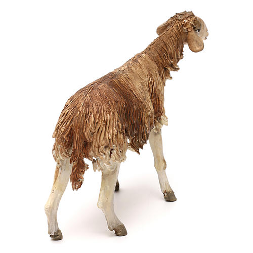 Pecora marrone 30 cm statua presepe Angela Tripi 4