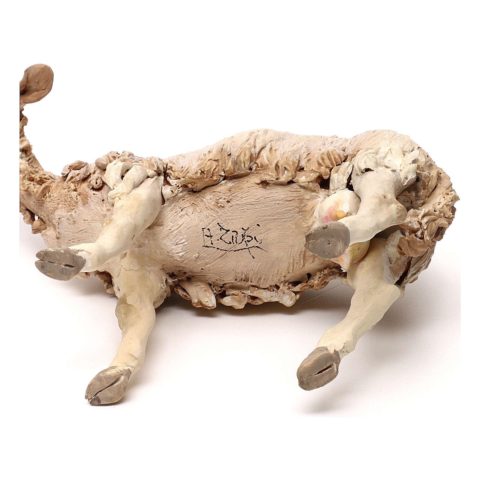Pecorella in piedi statua presepe 30 cm Tripi  4