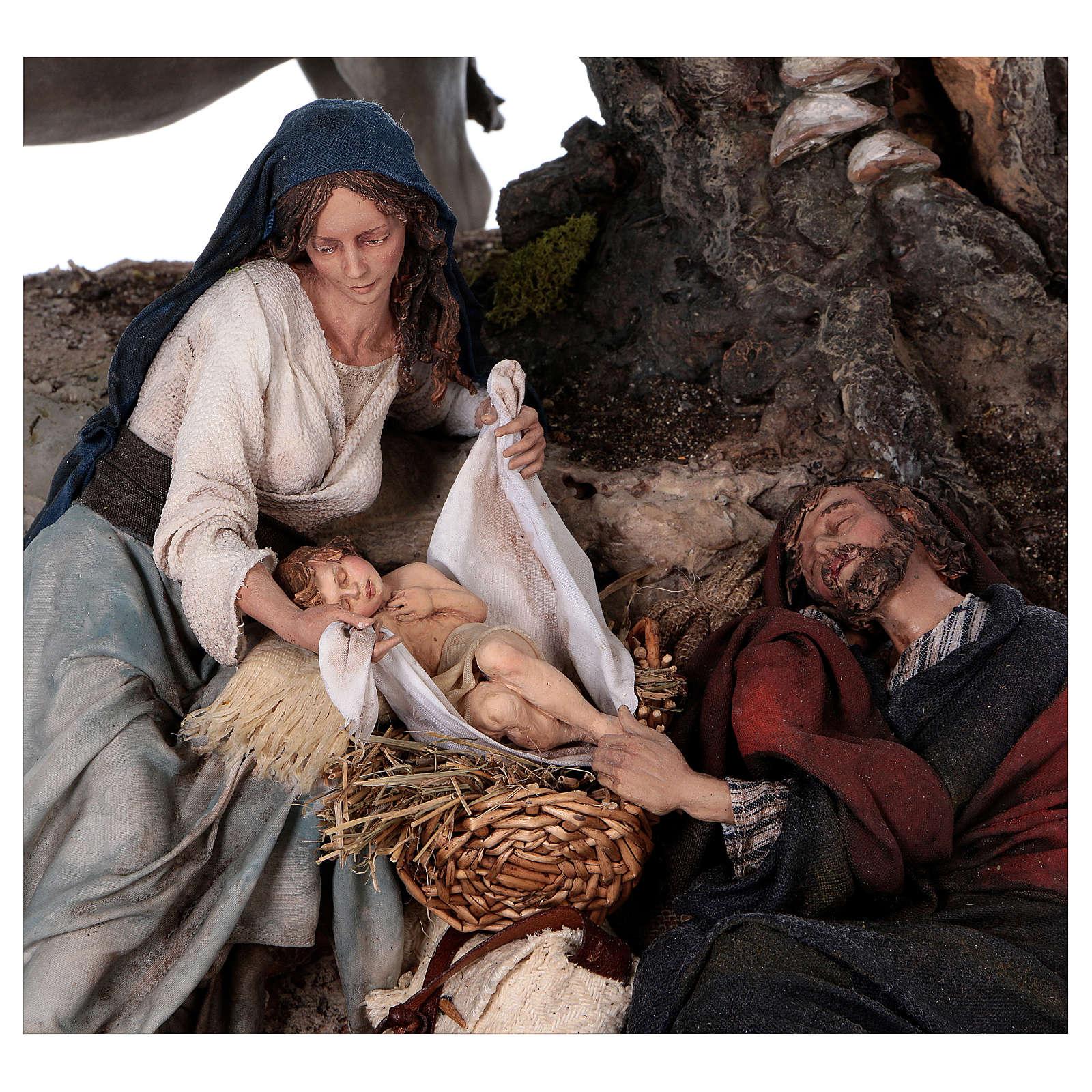 Flight to Egypt: Joseph rests, Angela Tripi 25 cm 4