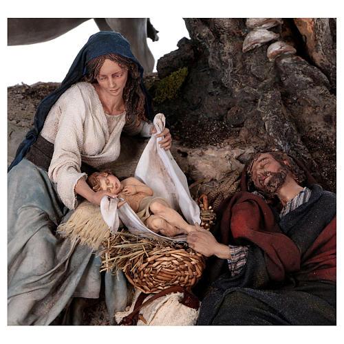 Flight to Egypt: Joseph rests, Angela Tripi 25 cm 2