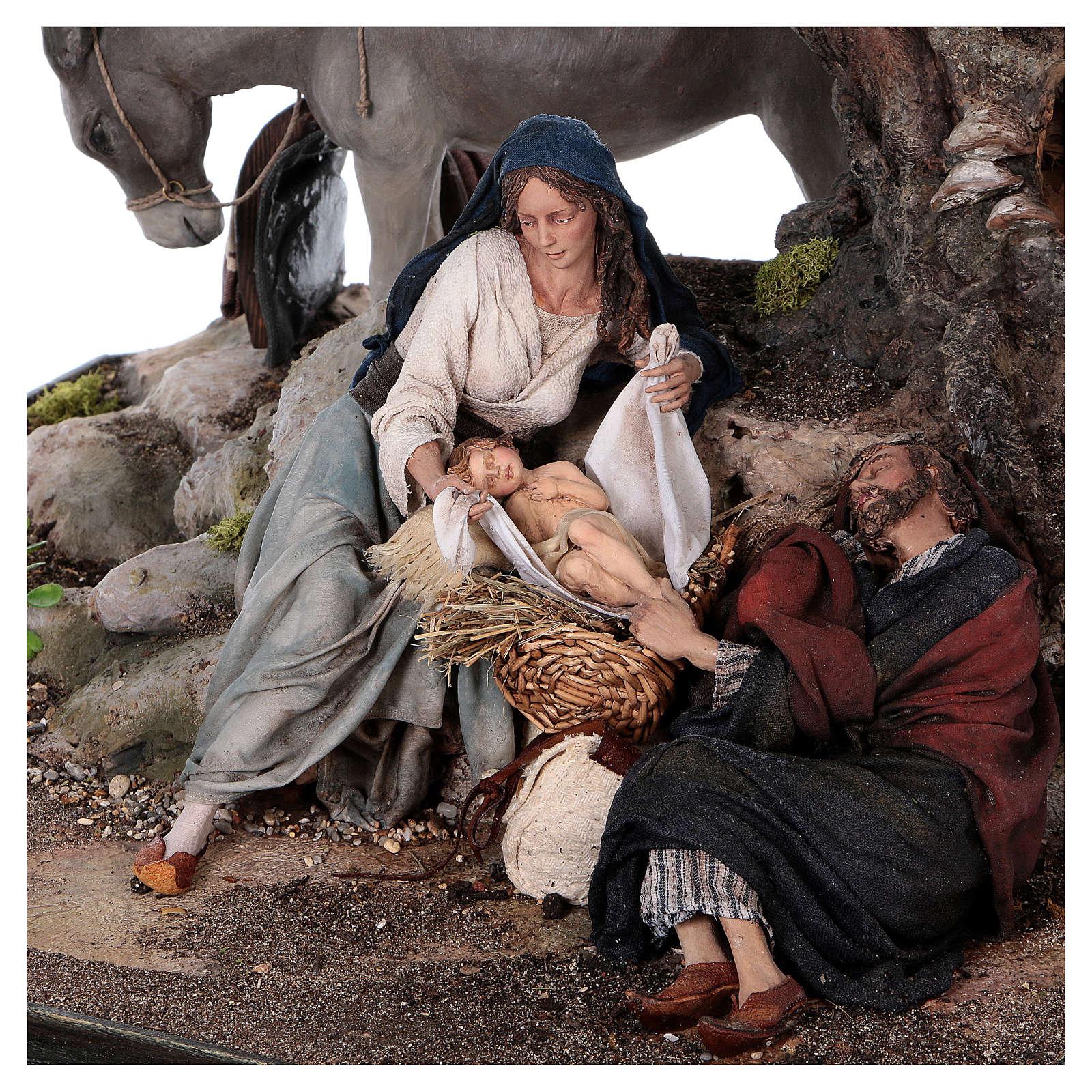 Reposo de José en la Fuga de Egipto 25 cm Angela Tripi 4
